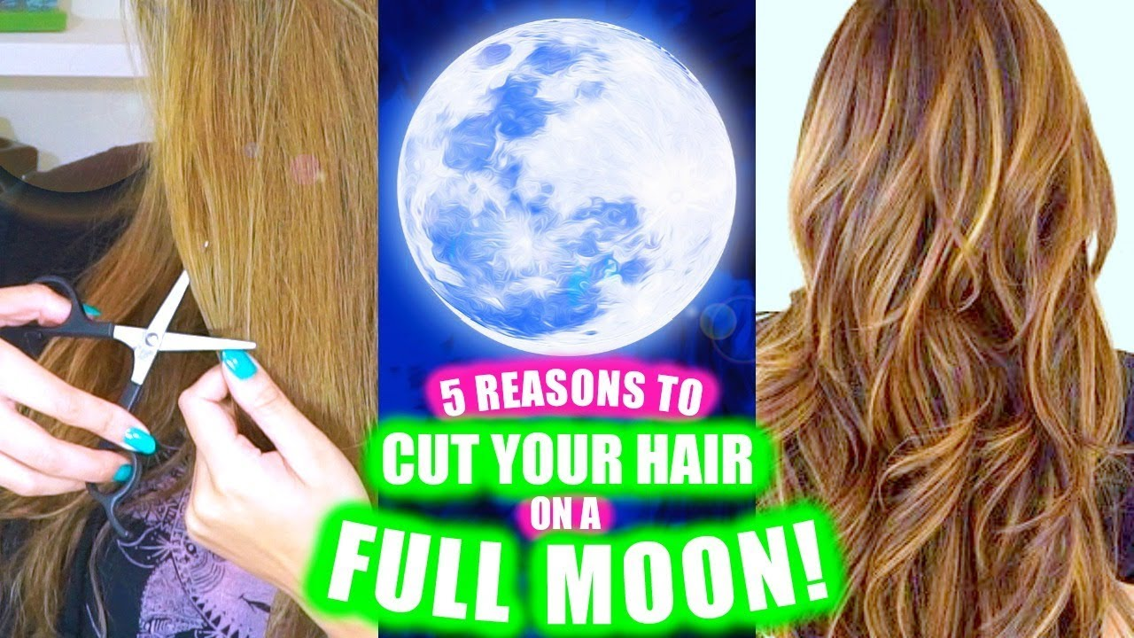 10 REASONS TO CUT YOUR HAIR ON A FULL MOON! │ LONGER THICKER HAIR, RELEASE  NEGATIVITY & BLOCKS!