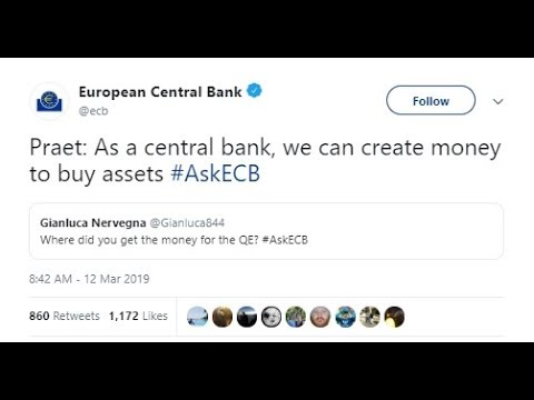 As A Central Bank, We Can Create Money To Buy Assets #AskECB