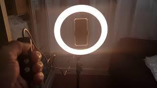 แกะกล่อง รีวิวขาตั้งไฟสำหรับไลฟ์สด ปรับแสงได้