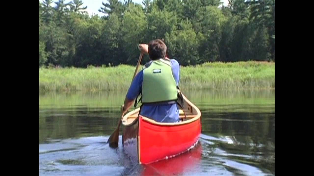 how to keep your canoe going straight when paddling solo youtube