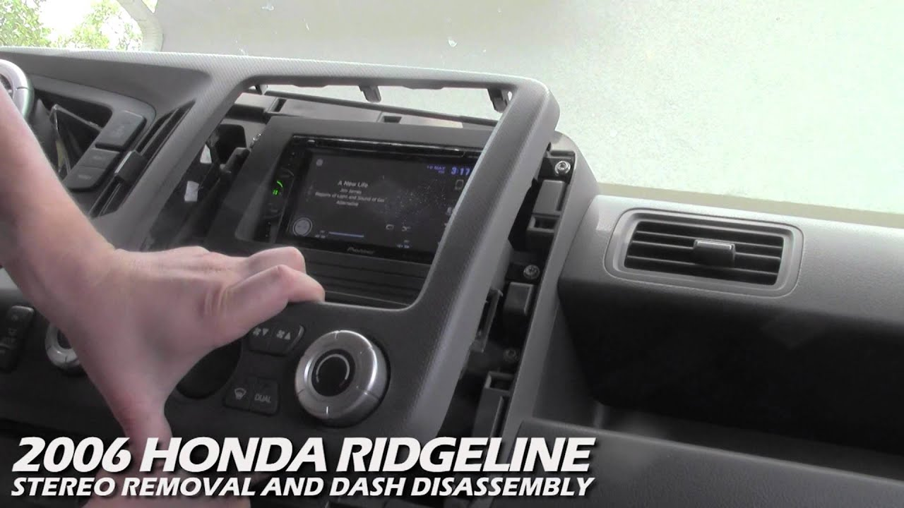 how to remove the stereo from a honda ridgeline youtube. Black Bedroom Furniture Sets. Home Design Ideas