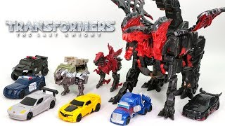 Transformers 5 TLK OneStep Turbo Changer Dragonstorm Cyberfire 10 Vehicle Dinosaur Dragon Robot Toys