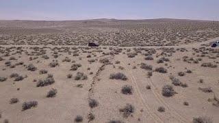 Un séisme provoque une fissure dans un désert de Californie aux États-Unis