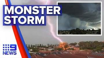 West Coast battered by sudden storm surge   Nine News Australia