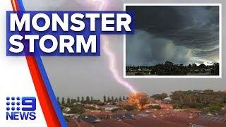 West Coast battered by sudden storm surge | Nine News Australia