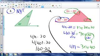 Math 8 - 3.2a (Part 2) - Exterior Angles of Triangles