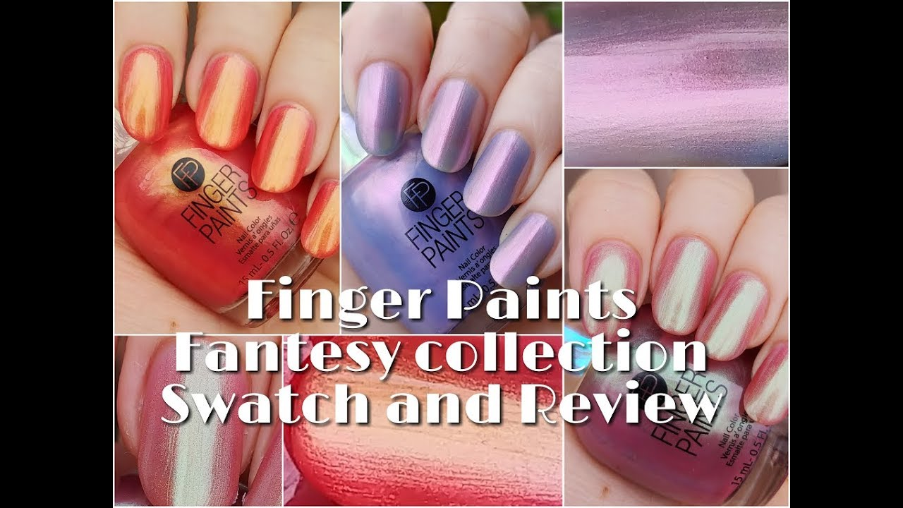 Finger Paints The Fantasy Collection (3 of 6) - Stacy Swatches - YouTube