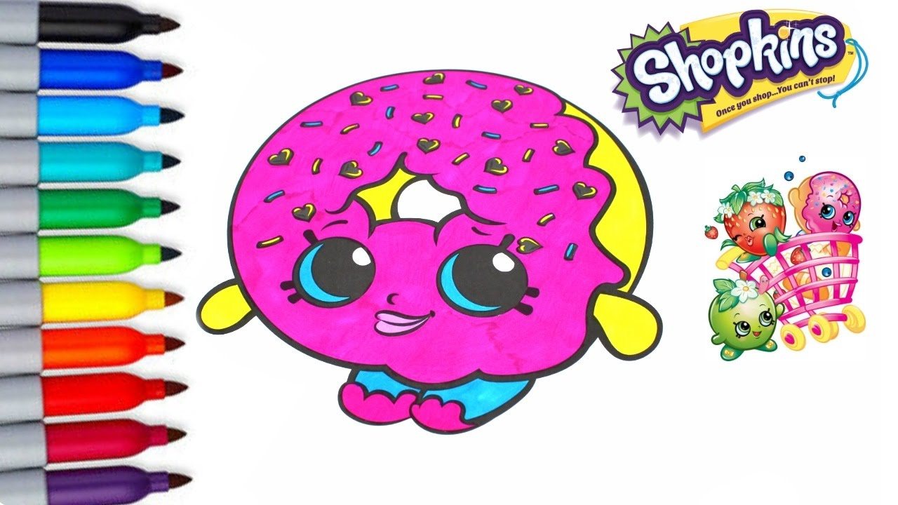 Shopkins D\'lish Donut Fun Coloring Activities Page For Children Kids ...