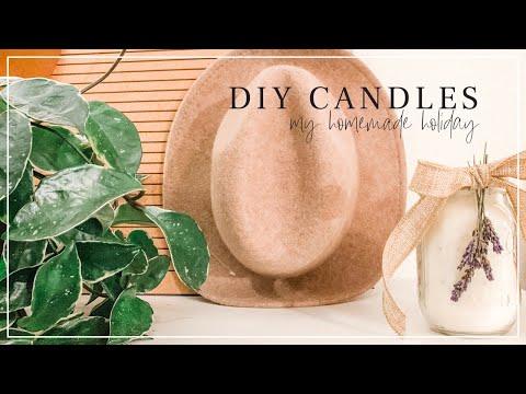 HOMEMADE HOLIDAY: DIY Candles