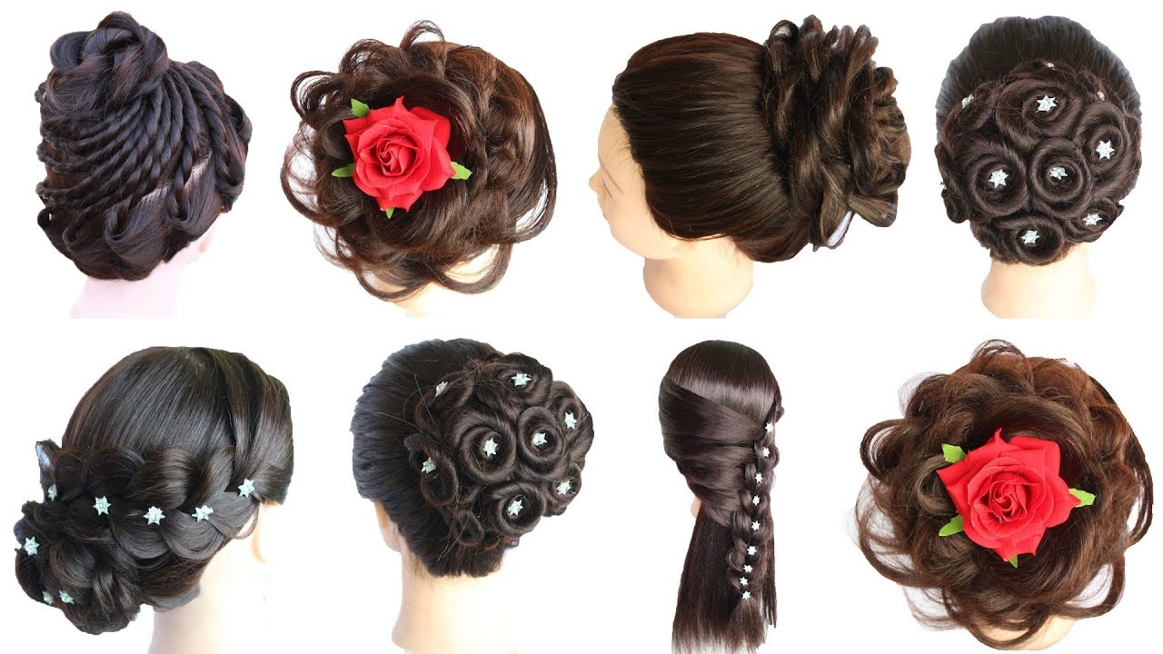 6 beautiful hairstyles    cute hairstyles    hairstyles for girls   party hairstyle   juda hairstyle #1