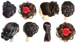 6 beautiful hairstyles || cute hairstyles || hairstyles for girls | party hairstyle | juda hairstyle