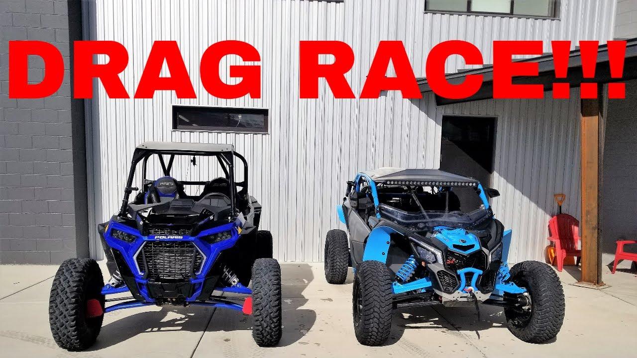 POLARIS RZR XP TURBO S VS CAN AM X3 XRC DRAG RACE - YouTube
