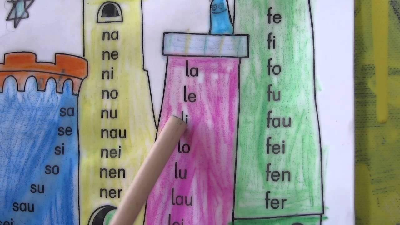 Silbenlesen Silben Lesen Mit Silbentürmen Lesen Lernen Lese Trainer 1 Klasse Lesestufe 1