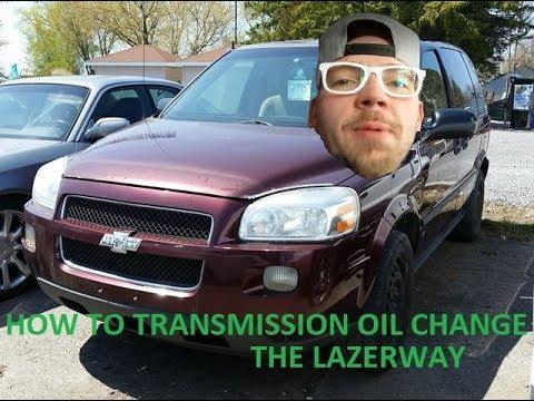 2006 Chevrolet Uplander Transmission Oil Change Youtube