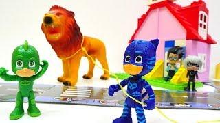 Герои в Масках - Видео для детей - Кетбой, Гекко и зверушки