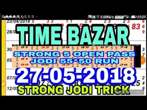 STRONG 5 OPEN PASS,jodi 55*50 run,27 मई 18,TIME BAZAR SUPER TRICK,jabrdast TRICK K SATH JODI AUR OtC