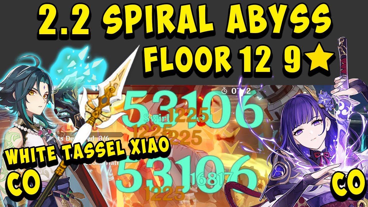 2.2 Spiral Abyss Floor 12 (9 Stars) C0 XIAO & C0 RAIDEN SHOGUN (3 Star Weapon Only) - Genshin Impact