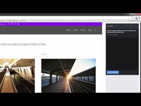 How to use CSS Hero to add a CSS Custom Class to Divi YouTube