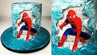 Cake decorating tutorials | Spider-man fault line cake | Sugarella Sweets