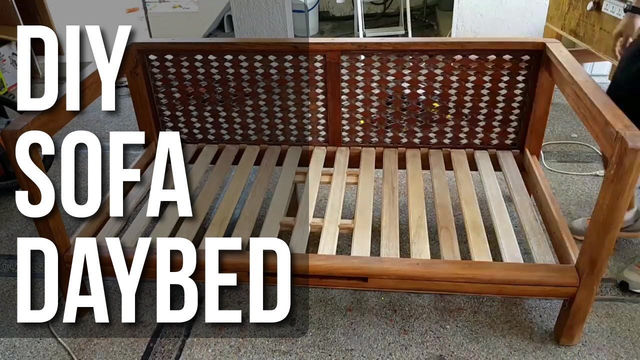 Diy Daybed Sofas Down Blend Sectional Sofa Youtube