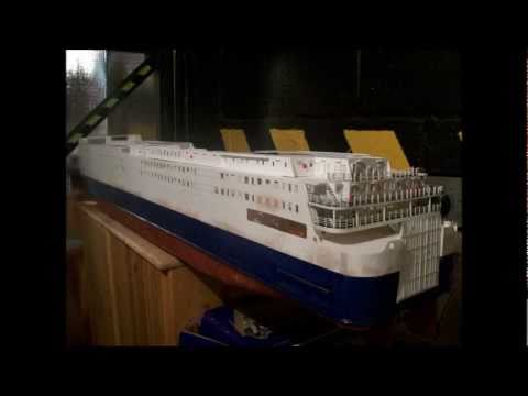 "Model RC ferry ship North Sea Ferries ""Norsea"" currently named Pride of York"