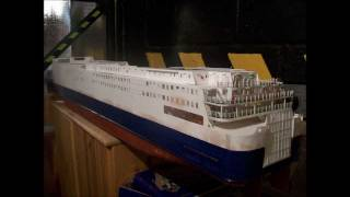 Model RC ferry ship North Sea Ferries