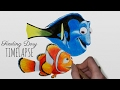 Speed Drawing: Finding Dory