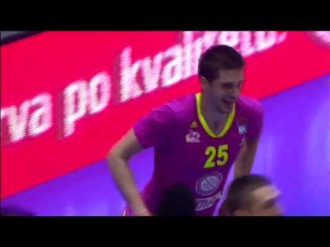 INSANE dunk by Rade Zagorac! (Mega Leks - Partizan NIS, 27.2.2017)