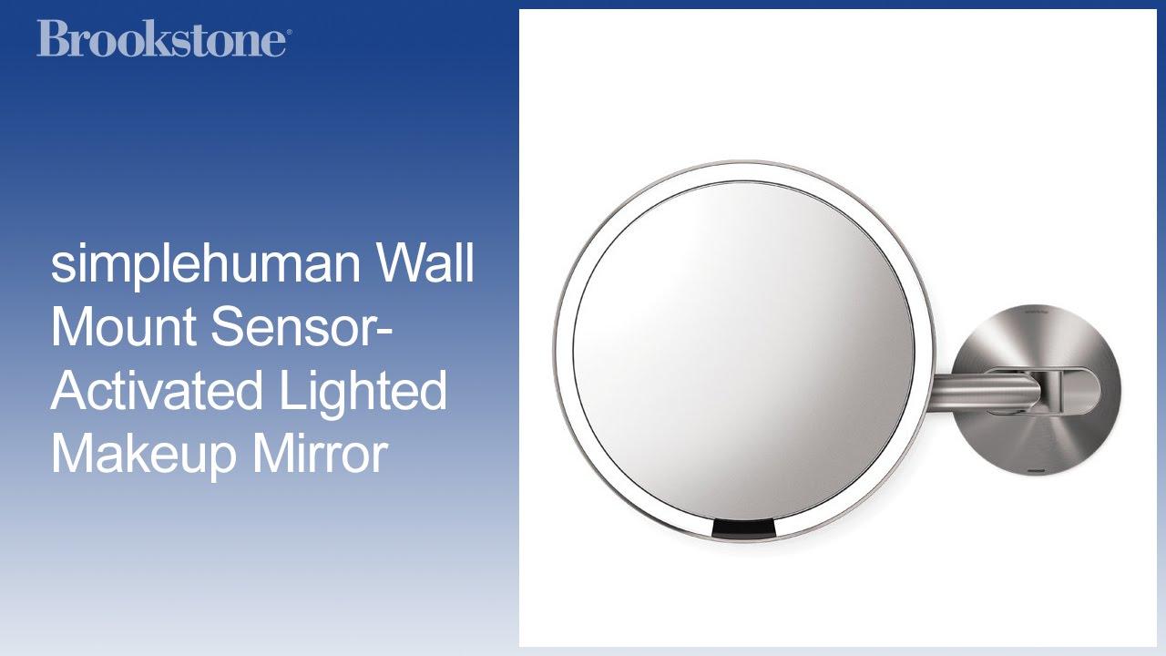 Simplehuman Wall Mount Sensor Activated Lighted Makeup