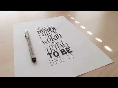 Trailer: Digitizing Hand Lettering with Sean McCabe on Skillshare.com