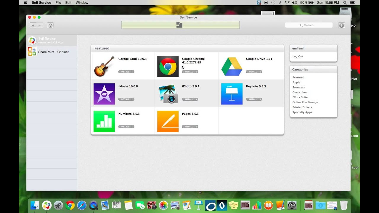 What is self service application on mac