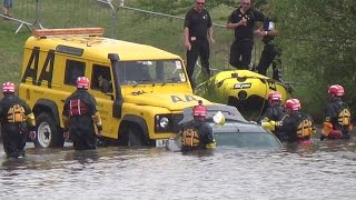 Automobile Association Special Operations Response Team rescue a car from flood water - Rescue Day