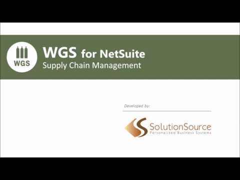WGS for NetSuite - Supply Chain Management