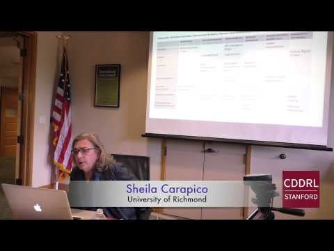 "ARD Stanford: Sheila Carapico on ""Arab Activism and the Paradoxes of Political Aid"" Feb 12, 2015"