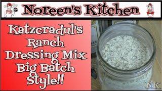 Homemade Bulk Ranch Dressing Mix ~ Ranch Dressing Mix Recipe ~ Noreen's Kitchen