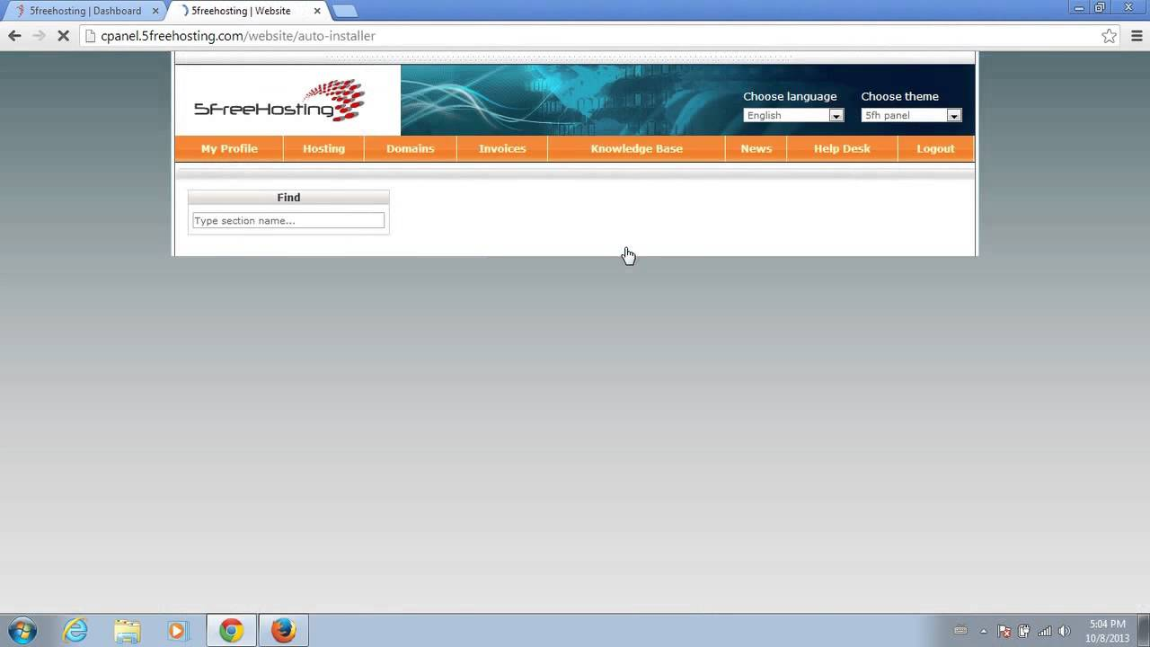 Free hosting | free domain - 5freehosting.com - YouTube