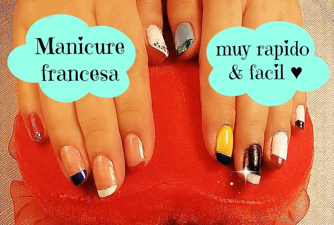 DIY-Diseños de uñas francesa con entretenidos colores/French ...