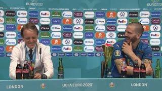 Слова БОНУЧЧИ и МАНЧИНИ после победы в финале ЕВРО 2020 Италия 1 1 Англия 3 2 пен