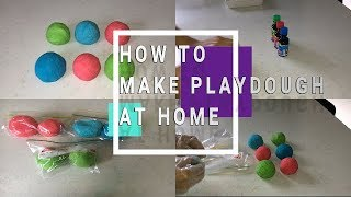 HOW TO MAKE PLAYDOUGH AT HOME WITH CREAM OF TARTAR