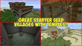 Great Starter Seed of 2018! Villages with Desert Temples and MORE! (PS4/Xbox/Switch)