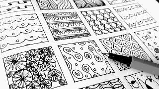 DOODLE PATTERNS Part 4 // Mandala, Zentangle, Speed Art, Time Lapse Drawing, Doodling