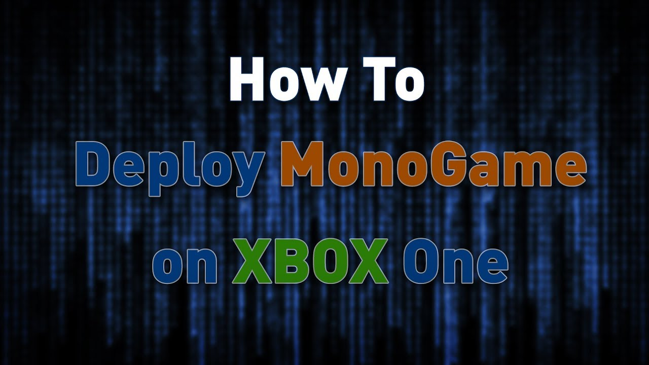 Vector Drawing Lines Xbox One : How to deploy monogame uwp visual studio xbox one youtube