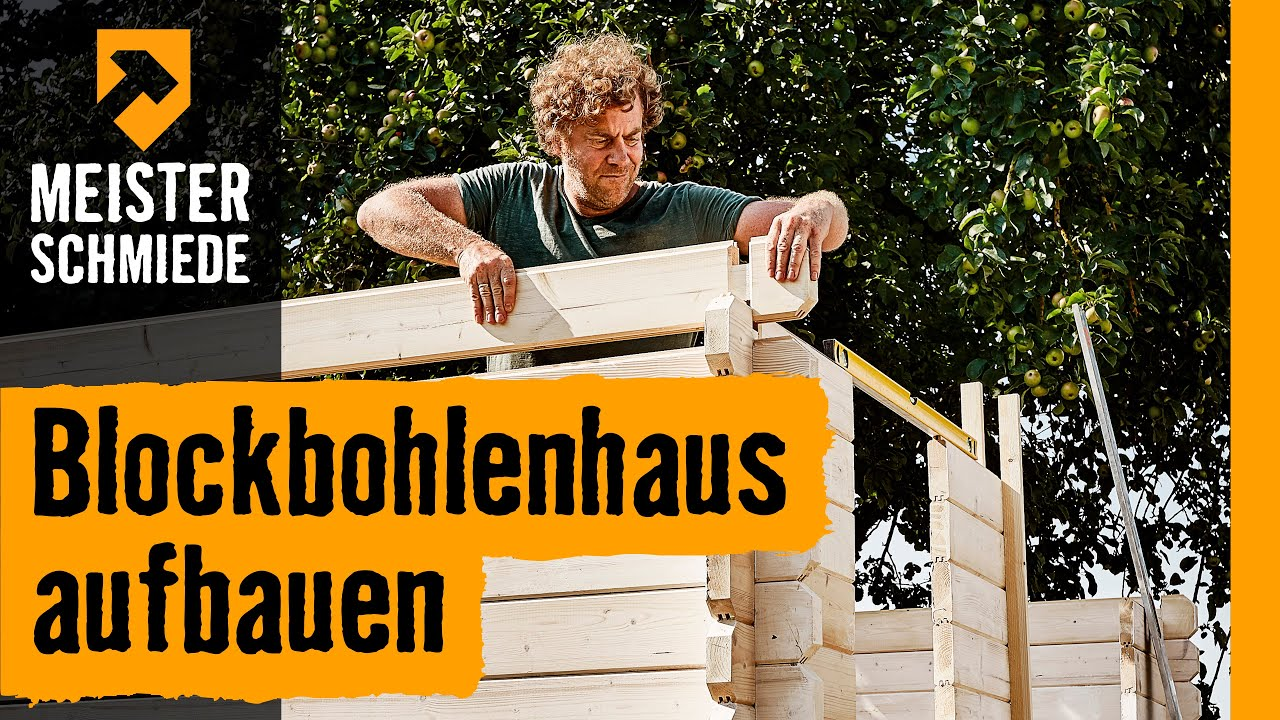 blockbohlenhaus aufbauen hornbach meisterschmiede youtube. Black Bedroom Furniture Sets. Home Design Ideas