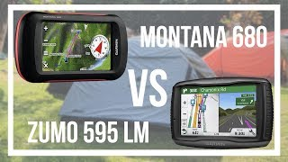 Garmin Montana 680 vs Zumo 595 - Comparison [ENG SUB]