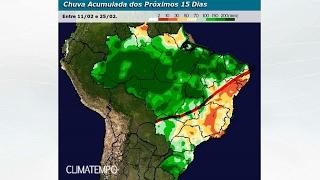 Muita chuva para o centro-norte do BR