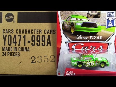 "2013 Cars 2 ""A"" 24 Die-Cast Case Mattel Unboxing New Models Mattel Disney Pixar"