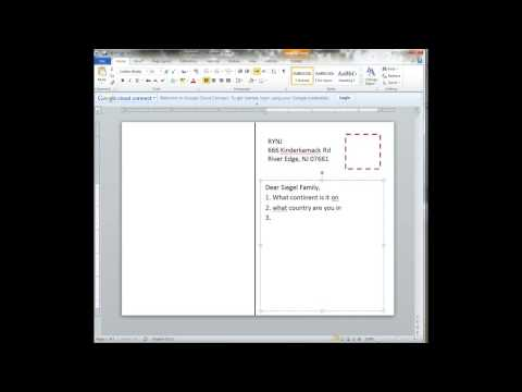 Creating a postcard in Word