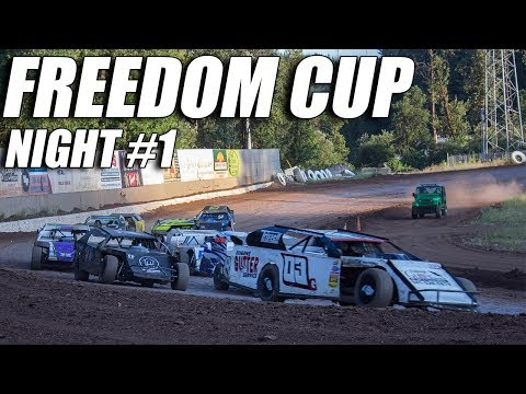Freedom Cup - Cottage Grove Speedway - Night #1 In car cam. 7/4/19