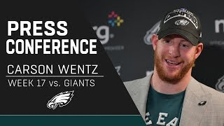"""Carson Wentz """"Grateful"""" after Clinching NFC East Title   Eagles Press Conference"""