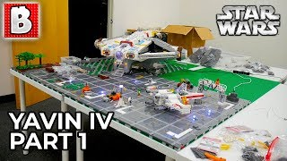 Building Star Wars YAVIN IV Rebel Base in LEGO | Part 1 - The Foundations